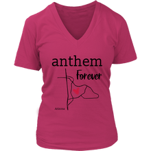 Load image into Gallery viewer, Anthem- Arizona Female V-Neck (Black Font)