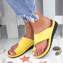 Load image into Gallery viewer, YELLOW Women Bunion Shoes Orthopedic Bunion Sandals | shopthecoolest.com