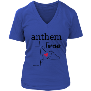 Anthem- Arizona Female V-Neck (Black Font)