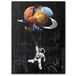 Space Canvas Space Painting Astronaut Canvas