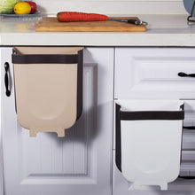 Load image into Gallery viewer, Mounted Trashcan Folding Kitchen Garbage Bin Wall Mounted Trashcan