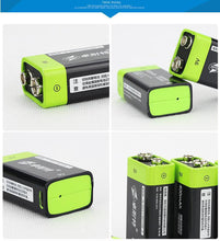 Load image into Gallery viewer, USB Rechargeable Battery  9V
