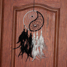 Load image into Gallery viewer, Dream Catcher with Feathers Ying Yang Black and White Dream Catcher