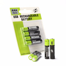 Load image into Gallery viewer, USB Rechargeable Batteries AAA with Cable