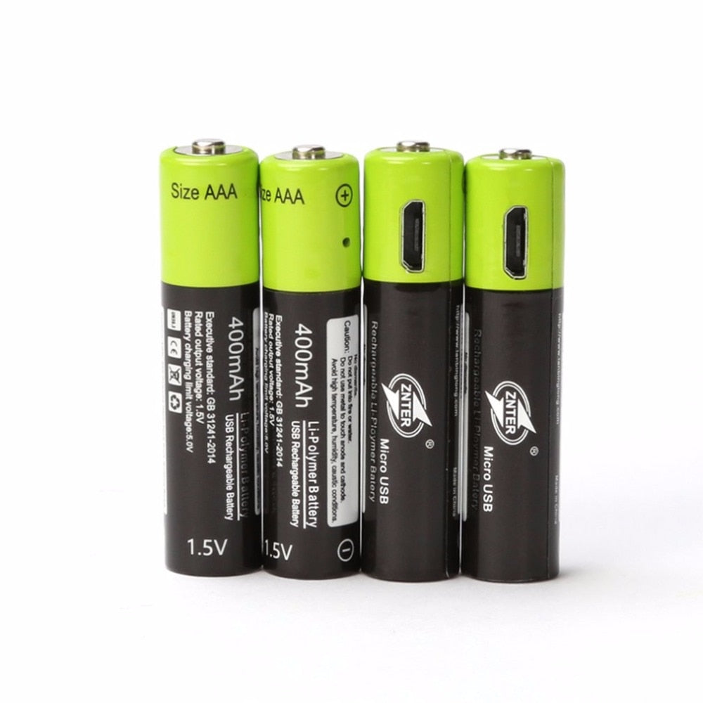 USB Rechargeable Batteries AAA with Cable