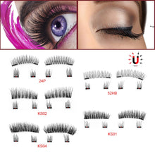 Load image into Gallery viewer, Magnetic Eyelashes with Tweezer and Box Set Magnetic Lashes 6 pc