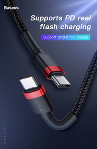 USB C Cable Fast Charging Fast Data Speed Both Ends Baseus USB Type C Length 2M