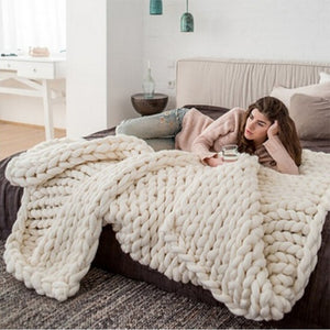 Knitted Blanket Chunky Knitted Blanket