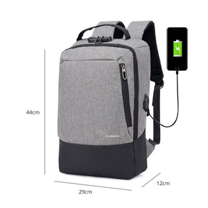 Anti Theft Backpack USB Charging Backpack