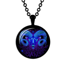Load image into Gallery viewer, Zodiac Necklace Glass Horoscope Pendant
