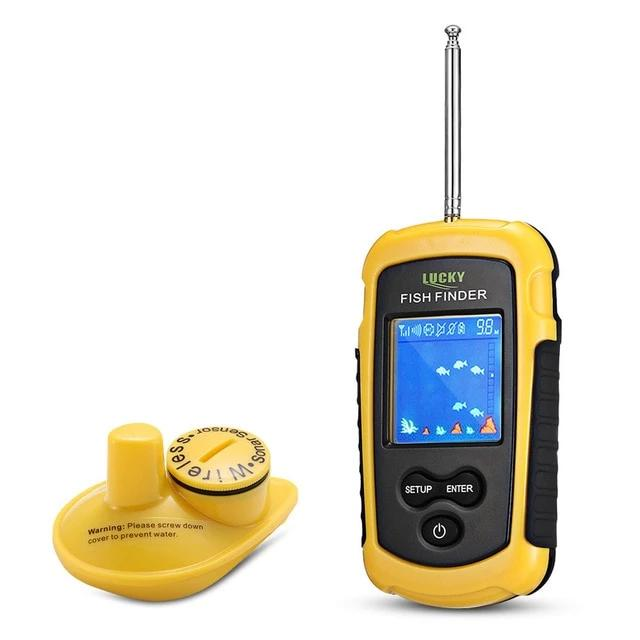 Wireless Fish Finder 125kHz Echo Sounder Sonar For Fishing