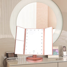 Load image into Gallery viewer, LED Folding Magnifying Vanity Mirror 22 LED Touch Screen