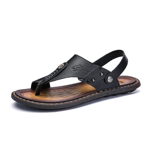 Mens Flip Flops Casual Leather Sandals
