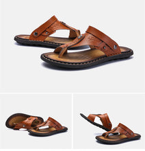 Load image into Gallery viewer, Mens Flip Flops Casual Leather Sandals