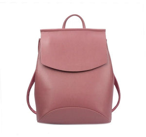 Faux Leather Backpack Woman New Fashion Backpack