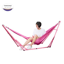 Load image into Gallery viewer, Hammock Elastic Cloth with Iron Frame Indoor Outdoor