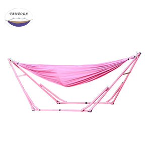 Hammock Elastic Cloth with Iron Frame Indoor Outdoor
