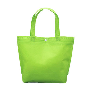 Tote Bag Reusable Shopping Bag Large Fold-able Tote Pouch with Button