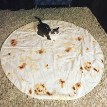 Load image into Gallery viewer, Burrito Blanket Tortilla Blanket Adult Sizes Round Shaped
