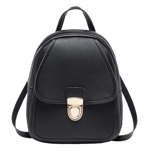 Mini Backpack Faux Leather Small Backpack