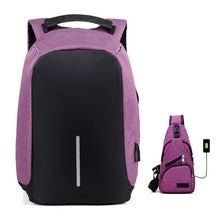 Load image into Gallery viewer, USB Charging Backpack Anti-Theft