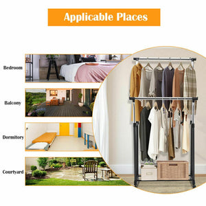 Adjustable Garment Rack Stainless Steel Hanging Clothes Rail Clothes Rack