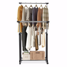 Load image into Gallery viewer, Adjustable Garment Rack Stainless Steel Hanging Clothes Rail Clothes Rack