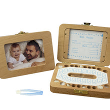 Load image into Gallery viewer, 2 in 1 Wooden Baby Tooth Box With Photo Frame