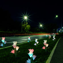 Load image into Gallery viewer, Multi-Color Changing Lily Solar Powered Lights Solar Garden Flower Lights