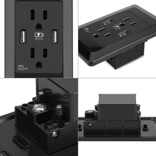 Load image into Gallery viewer, USB Wall Outlet Socket US Plug