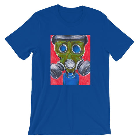 New gas mask design on tshirt by Los Angeles artist Wessel