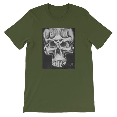 New skull design on tshirt by Los Angeles artist Wessel