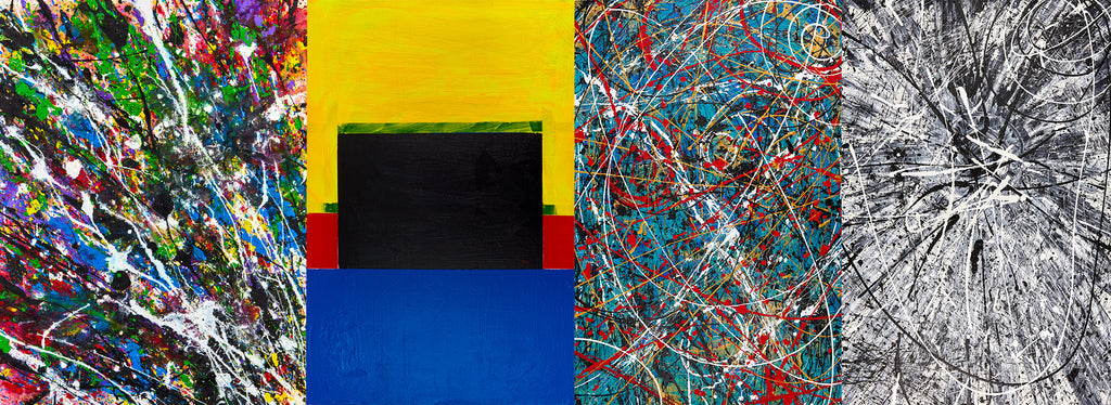 Los Angeles based artist Wessel and his abstract experimentations