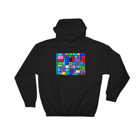 New design by graphic artist wessel on black hoodie