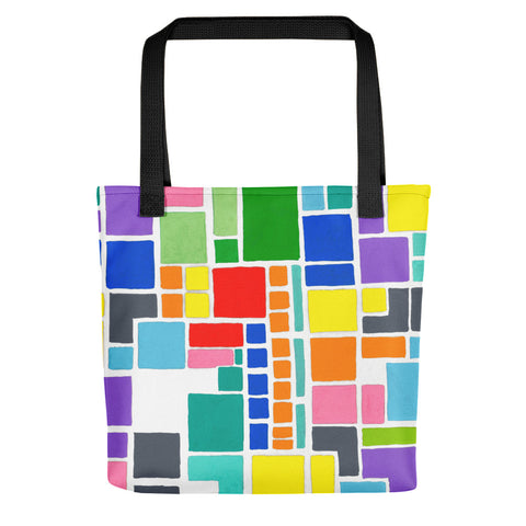 New design by los angeles artist wessel on tote bag