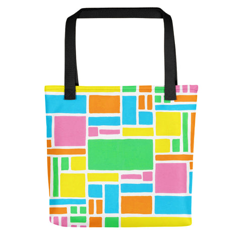 New graphic design for the colorful Boxes series a tote bag