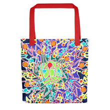 Load image into Gallery viewer, The Stick Figures 8 GRAPHIC ART TOTE Tote- Doodles by Wessel