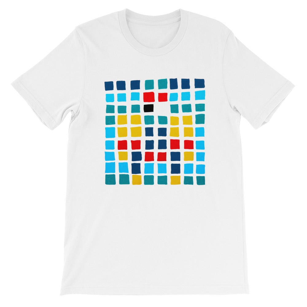 Boxes - 3 - WHITE GRAPHIC ART T-SHIRT t-shirt- Doodles by Wessel