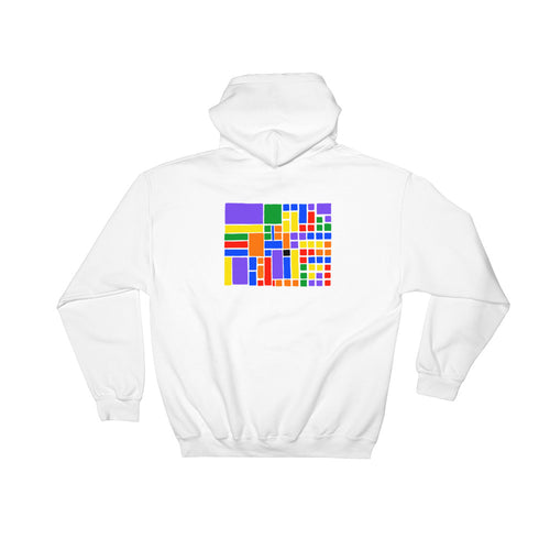 Boxes - 6 - 1 - WHITE GRAPHIC ART PULLOVER HOODIE