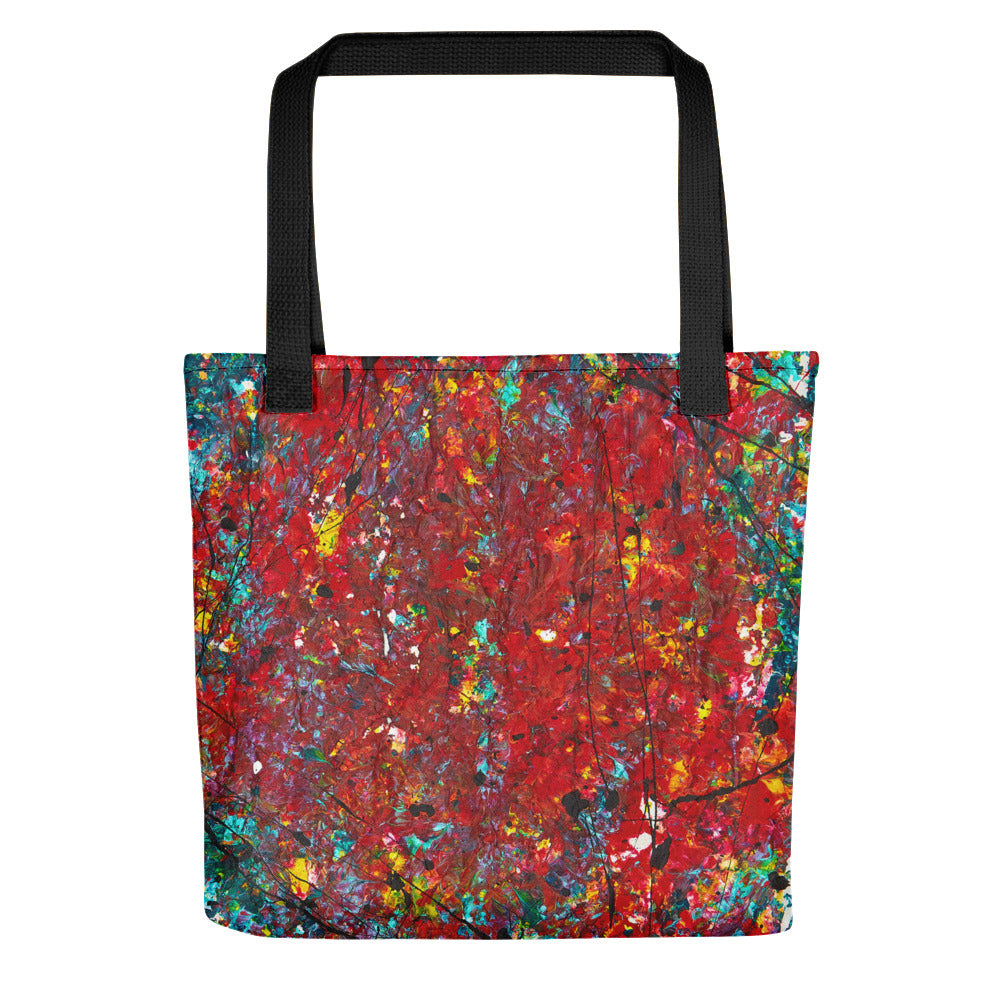 Abstract - HEART Tote- Doodles by Wessel