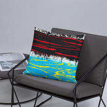 Load image into Gallery viewer, Abstract - OPPOSING STREAMS pillow- Doodles by Wessel