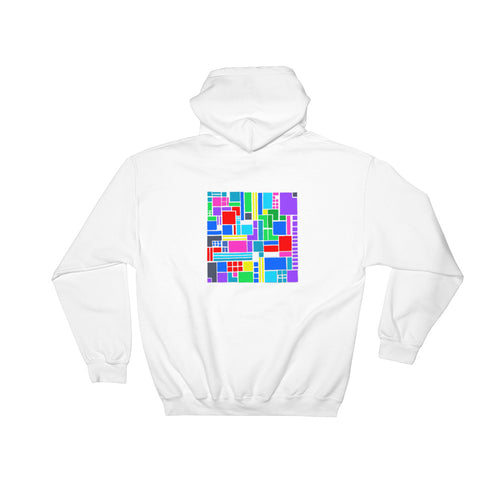 Boxes 6 - 2 - WHITE GRAPHIC ART PULLOVER HOODIE Hoodie- Doodles by Wessel
