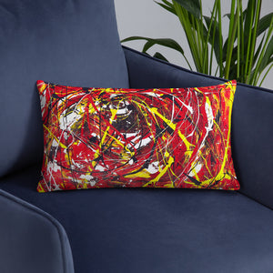 Abstract - THE EYE pillow- Doodles by Wessel