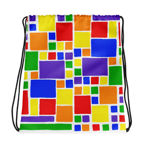 Boxes 5 - 2 DRAWSTRING BAG draw string bag- Doodles by Wessel