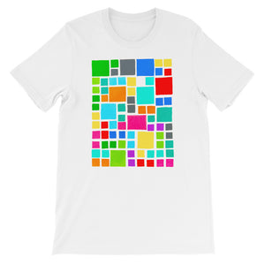 Boxes Series 2 - 3 - WHITE GRAPHIC ART T-SHIRT