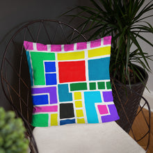 Load image into Gallery viewer, Boxes 15 THROW PILLOW pillow- Doodles by Wessel