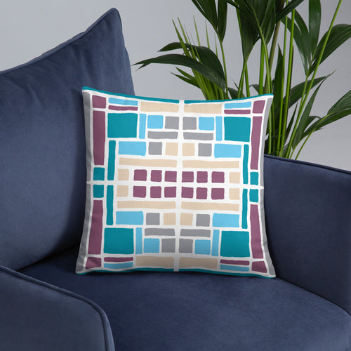 Boxes 23 THROW PILLOW pillow- Doodles by Wessel