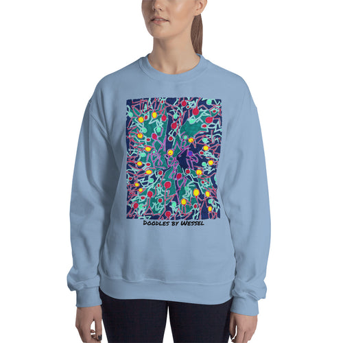 Doodles by Wessel - The stick figures 4 WOMENS SWEATER