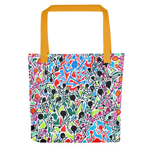 The Stick Figures 5 - Split - GRAPHIC ART TOTE