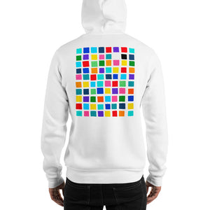 Boxes - 1 - EXPERIMENTS WITH COLOR HOODIE Hoodie- Doodles by Wessel